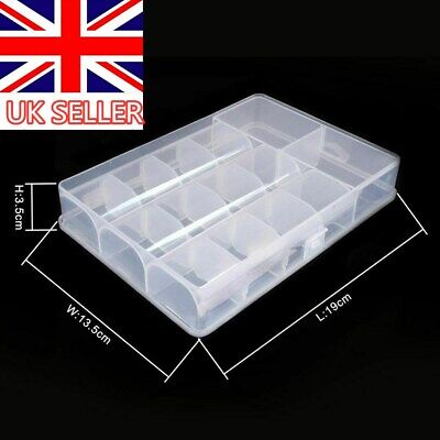 Multifunctional 14 Compartments Jewelery Box Storage Case Adjustable Organizer • 4.29£