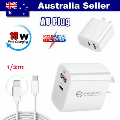AU18.99 • Buy IPhone12pro Charger Pd Fast Charge 18w Multi Dual Port Suitable For Apple 11max