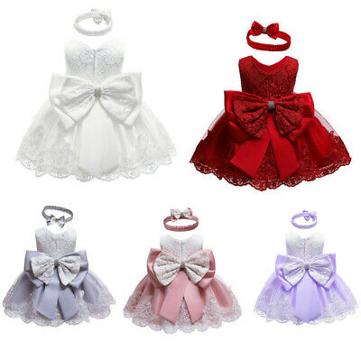 £12.99 • Buy Toddler Baby Girl Princess Dress Girls Cute Bowknot Wedding Party Gown Dresses