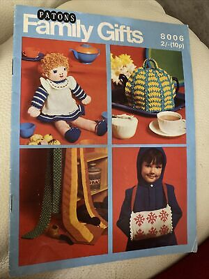 Vintage  Patons Bazaar Knitting & Crochet Patterns No 8006 Great Designs • 2.50£
