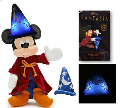 £34.99 • Buy RARE LIGHT-UP Disney Store Mickey Mouse Sorcerer Apprentice Plush Soft Toy