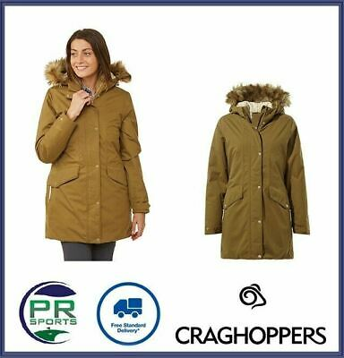 New Craghoppers Womens Outdoor Winter Rochers Jacket Waterproof Breathable • 49.99£