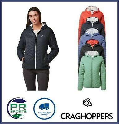 New Craghoppers Womens Outdoor Winter Compresslite Jacket Reversible Windproof • 32.99£