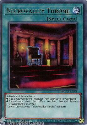 MAGO-EN088 Necrovalley Throne Rare 1st Edition Mint YuGiOh Card • 0.99£