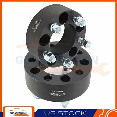 $51.29 • Buy (2) 2  Wheel Spacers 5x4.5 To 5x4.5 1/2 X20 Studs For Ford Mustang Lincoln Black