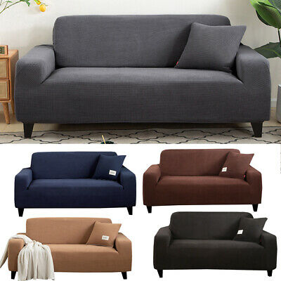 AU23.99 • Buy Super Stretch Couch Covers Sofa Covers Slip Covers Soft Thick 1/2/3/4 Seater NEW