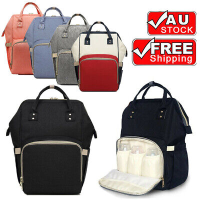 AU20.99 • Buy Waterproof Large Mummy Nappy Diaper Bag Baby Travel Changing Backpack AU Stock