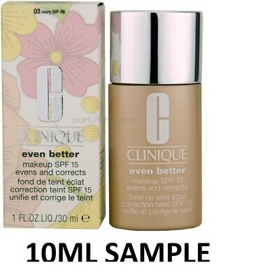 £6.20 • Buy Clinique Even Better Foundation 03 Ivory Vf-n  10ml Sample Fresh Please See Phot
