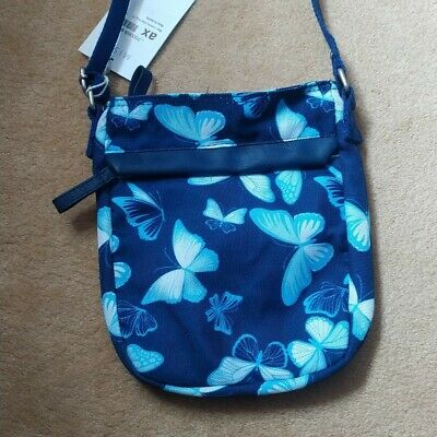 £8 • Buy Blue Canvas Butterfly Print Bag