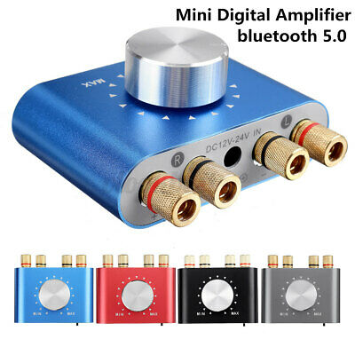 AU28.68 • Buy 100W Mini Bluetooth 5.0 Power Amplifier Stereo Audio HiFi 2 Channel Amp Receiver
