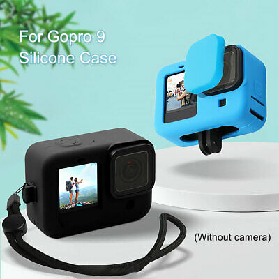 AU9.39 • Buy Protective Silicone Case For GoPro Hero 9 Action Camera Access Black Blue AU
