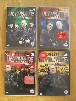 Ross Kemp Ultimate Force, Series 1-4 Complete, 8 DVDs • 12.95£