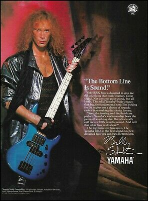 Billy Sheehan 1988 Yamaha RBX Series Bass Guitar Advertisement Ad Print • 3.03£