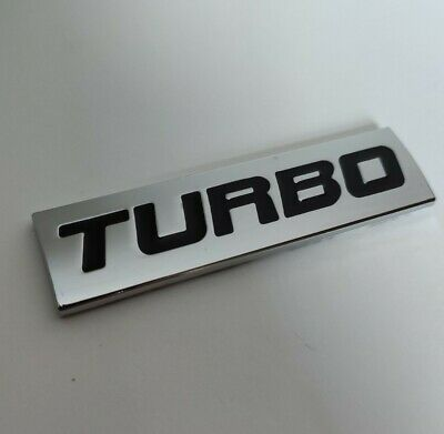 Black Silver Metal TURBO Badge Emblem For Vauxhall Astra Corsa Insignia VXR GTC • 6.50£