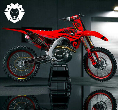 $106.50 • Buy Honda CRF 450R Dirt Bike Graphic Sticker Kit MX 2005-2020 All Years Decal Wrap