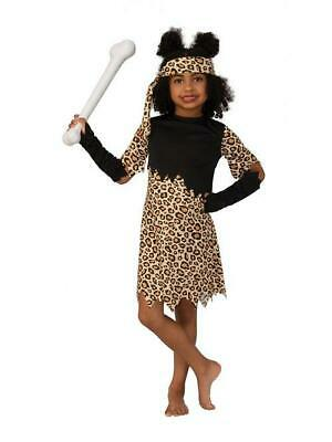 Child Cave Girl Fancy Dress Costume With Matching Accessories • 10.99£