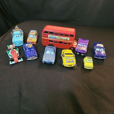 $ CDN24.23 • Buy DISNEY PIXAR CARS LOOSE DOUBLE DECKER BUS New Mater Ramone Finn Darrell Chief
