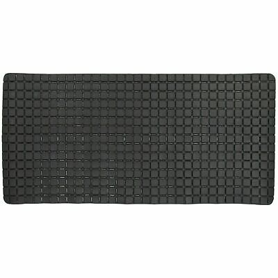 Non-Slip Extra Long Rubber Bath Tub Shower Mat Safety Eco-Friendly PVC - Black • 8.79£