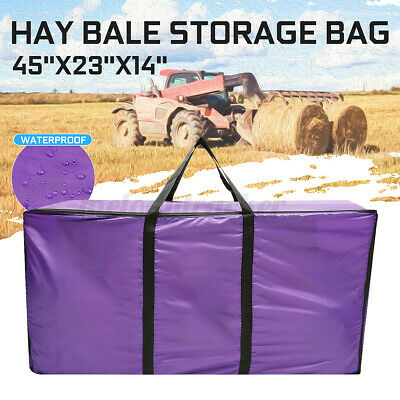 £12.77 • Buy Large Polyester Hay Bale Straw Carry Storage Bag Camping Horse Feeding Pouch