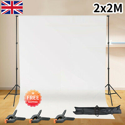 2×2m Product Shooting Backdrop Frame Kit Studio Background Support Stand • 19.99£