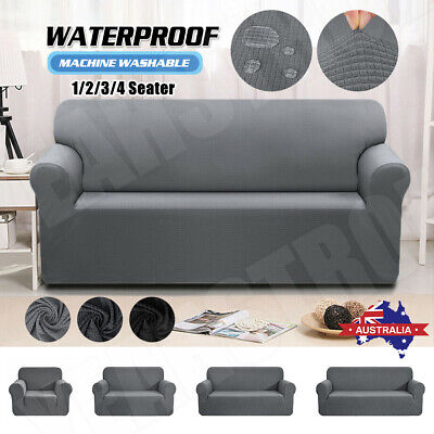 AU33.99 • Buy Sofa Covers 1/2/3/4 Seater Stretch Lounge Slipcover Couch Protector Waterproof