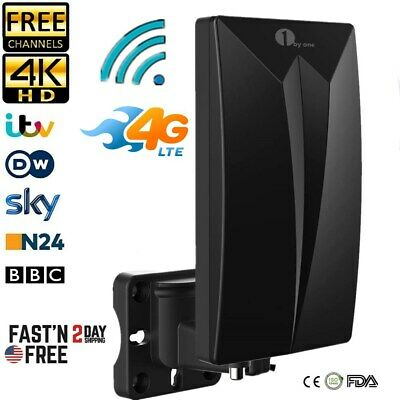 Freeview TV Aerial Install Kit Outdoor Digital 4k Signal Built-in 4G LTE Antenna • 16.99£
