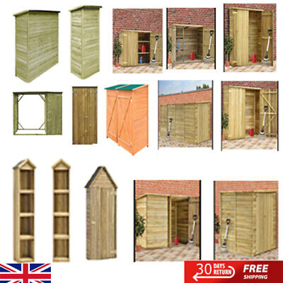 Wooden Outdoor Garden Cabinet Garden Utility Storage Tools Wood Shelf Box Shed • 181.61£