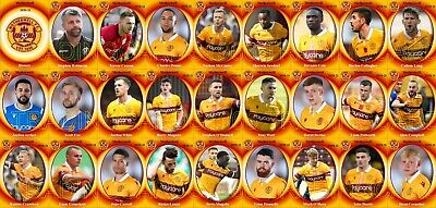Motherwell FC Football Squad Trading Cards 2020-21 • 8.10£