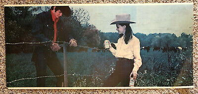 $ CDN51.89 • Buy Vintage Budweiser Beer Advertising Panel For Sign Cowboy Cowgirl Barbed Wire