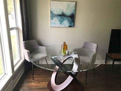 AU319.98 • Buy Round Glass Dining Table