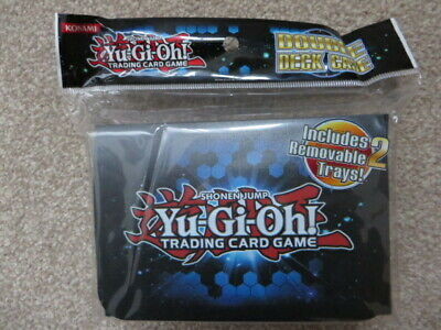 YuGiOh! Double Deck Case/Box Card Holder With 2 Removable Trays & Dividers - NEW • 20£