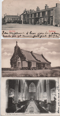 Snettisham, Norfolk Three Early 1900s P'cards High St, Church, Queen's Bungalow • 1.50£