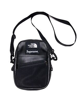 $ CDN327.26 • Buy Supreme X The North Face Black Leather Shoulder Bag Authentic