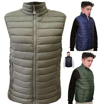 Mens Sleeveless Gilet Quilted Bubble Body Warmer Puffer Padded Bomber Jackets Xm • 14.99£