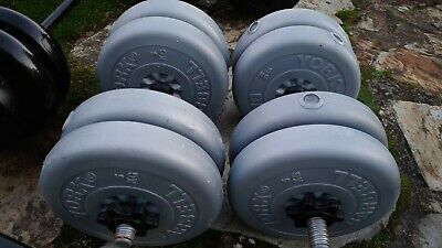 £159.99 • Buy Dumbbells Weights Set 44kg Gym Weight Set For Bench Press Or Barbell