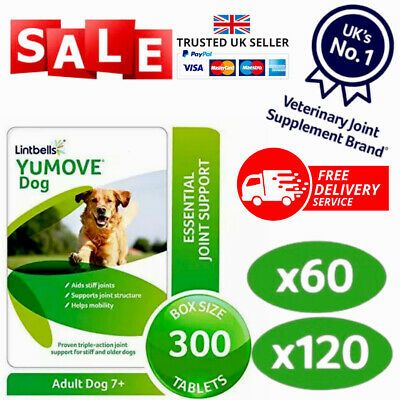 Lintbells YuMOVE Dog Mobility Health Supplement Aid For Stiff Old Dogs Various • 18.95£