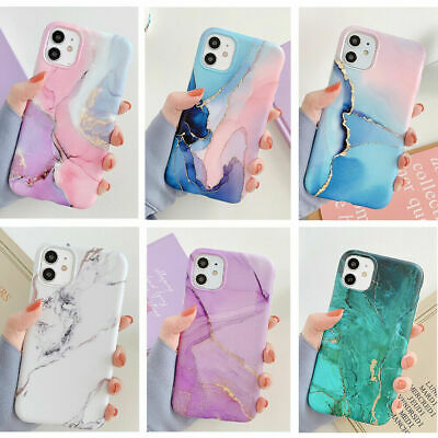 AU9.98 • Buy Slim Cute Marble Soft Case Cover IPhone 12 Pro Max 11Pro Max XR 7 8 Plus SE 2020
