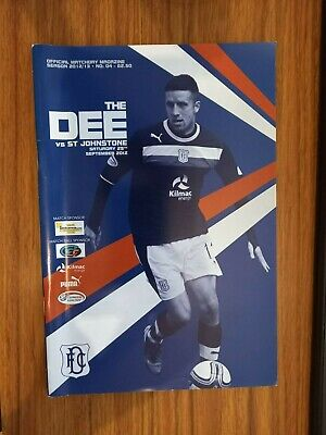 £1.49 • Buy Dundee Home Programmes 2012-13 Season *choose From List*