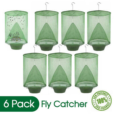 AU17.99 • Buy Reusable 6 Pack Fly Trap Insect Killer Net Cage Trap Ranch Pest Hanging Catcher