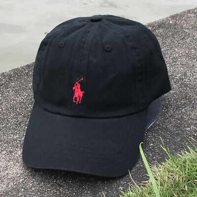 £9.20 • Buy Black Polo Embroidered Red Rider Classic Cotton Sport Baseball Cap Adjustable