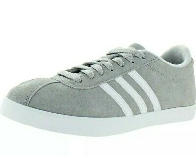 AU44.95 • Buy NEW Adidas Womens US 7 UK 5.5 Courtset Leather Suede Shoes Runners Grey Silver