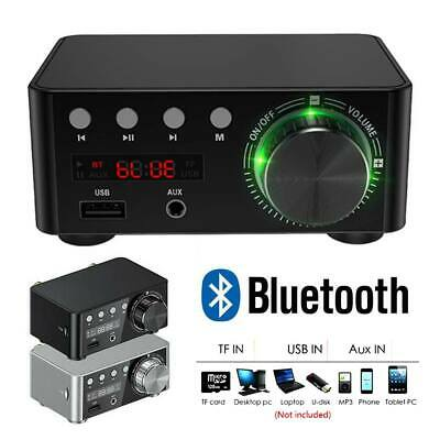 Bluetooth 5.0 Power Amplifier USB Mini Music Player Stereo Home Car Audio Hot CI • 21.15£