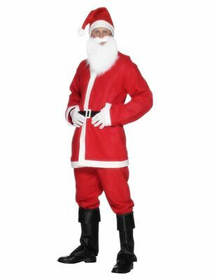 NEW Mens Budget Santa Claus Suit Father Christmas Fancy Dress Smiffy's Costume • 6.99£