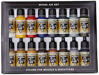 Vallejo Model Air Basic Colors Acrylic Paint Set For Air Brush - Assorted Pack • 30.79£