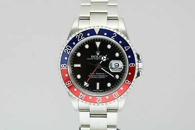 "$ CDN15634.29 • Buy Rolex GMT Master II Pepsi Bezel Stick Error Dial ""No-Holes"" Watch 16710 D Series"