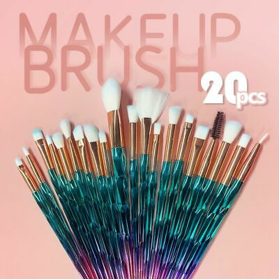 AU8.85 • Buy 20PCS Eye Make-up Brushes Diamond Unicorn Eyeshadow Eyebrow Blending Brush Set