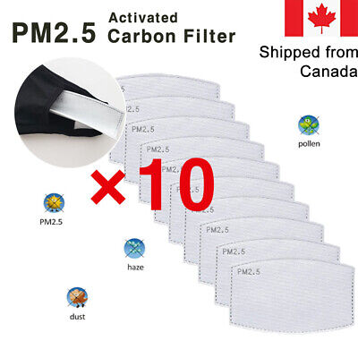 $ CDN3.99 • Buy [10-PACK] PM2.5 FACE MASK FILTER/ 5-LAYERS/ Activated Carbon Filters Replacement