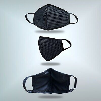 AU16 • Buy Pack Of 4 Unisex Adult Washable & Reusable Face Mask. 5 Ply Layered.