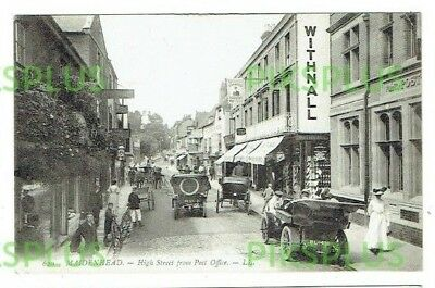 Old L Levy Postcard Maidenhead High Street & Post Office Berks Ll.620 Used 1908 • 8.99£