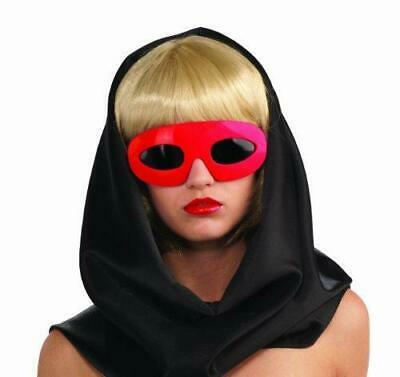 Lady Gaga Glasses Red Womens Accessories Celebrity SZ One Size Solid • 5£